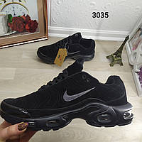 Мужские кроссовки в стиле Nike Air Max Tn , черный замш, Топ качество! Вьетнам.