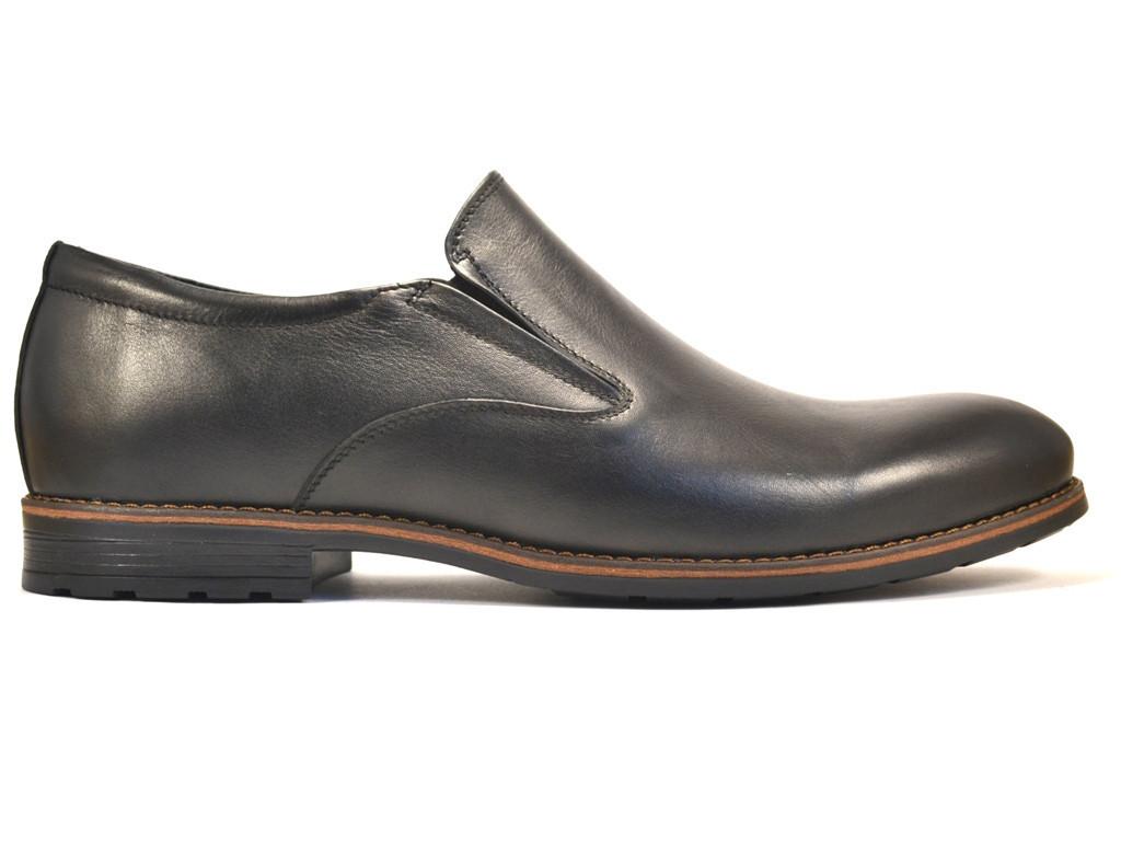 Rosso Avangard BS Feliceite Mono туфли большие лоферы мужские кожаные черные без шнурков на резинках 50 размер