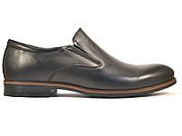 Rosso Avangard BS Feliceite Mono туфли большие лоферы мужские кожаные черные без шнурков на резинках 50 размер, фото 1