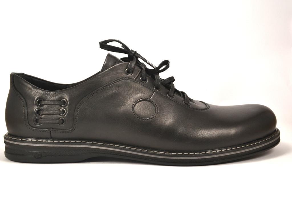 Rosso Avangard BS Prince Black Comfort туфли кожаные большие мужские облегченные черные демисезонные 50 размер