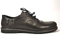 Rosso Avangard BS Prince Black Comfort туфли кожаные большие мужские облегченные черные демисезонные 50 размер, фото 1