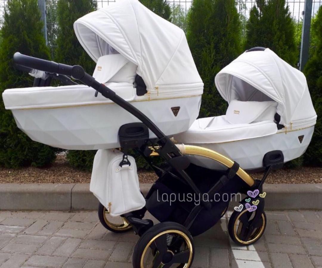 Дитяча коляска для двійнят Junama Diamond Individual Duo 04