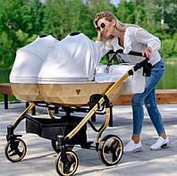 Дитяча коляска для двійнят Junama Mirror Satin Duo 06