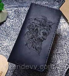 Портмоне мужское кожаное Mountains Человек-лев Original