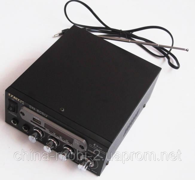 Усилитель UKC 805Bt с блютуз и караоке, MP3, FM