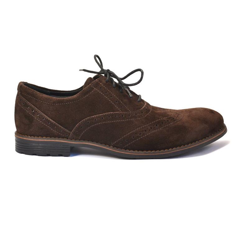 Rosso Avangard BS Felicete Brown Vel большие туфли мужские броги оксфорды замша коричневые 50 размер