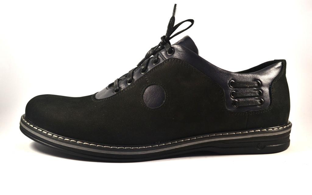 Rosso Avangard Prince Black Nub BS большие туфли мужские облегченные нубук черные 50 размер