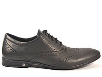 Rosso Avangard BS Lord Protec обувь большие туфли мужские кожаные классические оксфорды броги черные 50 размер