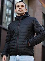 Мужская демисезонная куртка стеганая ромб-полоса Ф