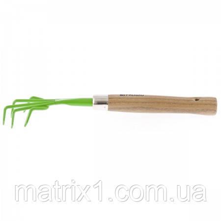 Рыхлитель, колличество зубьев 5, металлический, деревянная рукоятка, 330 мм Palisad 62353
