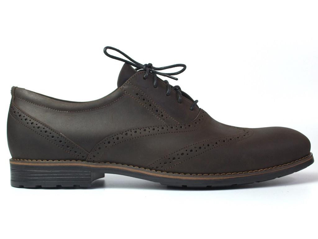 Rosso Avangard Felicite Brown Crazy Leather BS обувь большая мужская туфли броги кожа коричневые 50 размер
