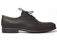 Rosso Avangard Felicite Brown Crazy Leather BS обувь большая мужская туфли броги кожа коричневые 50 размер, фото 1