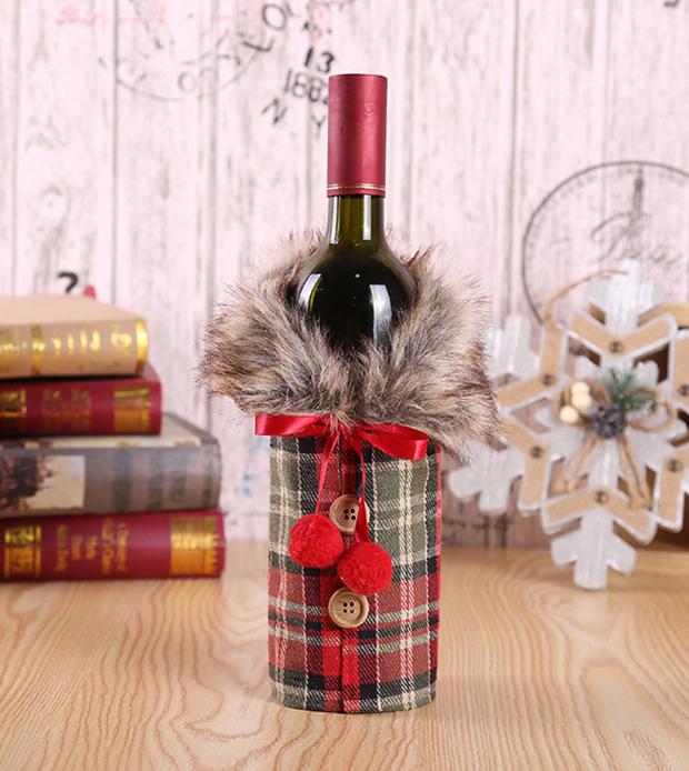 Новогоднее украшение для бутылки!