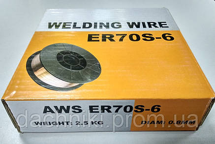 Сварочная омеднённая проволока ER70S-6 (нетто 4 кг., аналог СВ08Г2С), фото 2