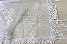 Хустка біла фатинова ажурна святкова  230-6, фото 2