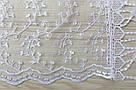 Шарф білий фатиновий ажурний святковий 150-5, фото 2