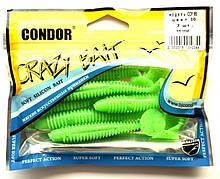 Їстівна силіконова принада Condor (Кондор) CCF-95, колір 10, 95мм, 7шт.