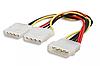 Переходник сплиттер 4 pin molex -> 2 по 4pin молекс кабель питания