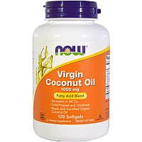"""Кокосовое масло первого отжима NOW Foods """"Virgin Coconut Oil"""" 1000 мг (120 гелевых капсул)"""