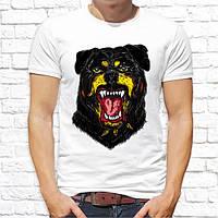 Чоловіча футболка з принтом Собака Бульдог Push IT