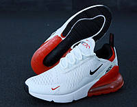 Женские кроссовки Nike Air Max 270 White/Red, фото 1