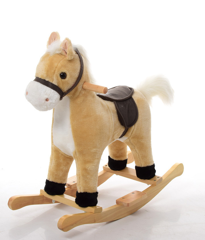 Лошадь-качалка,  MP 0081 Бежевая