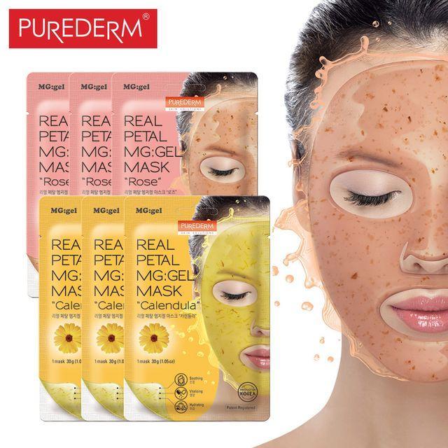 Purederm Real Petal MG:gel Mask Calendula