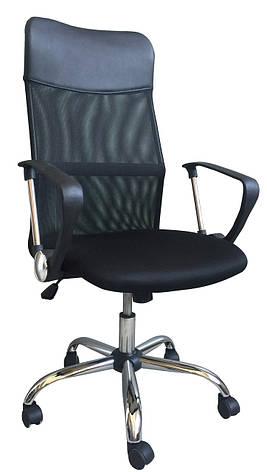 Кресло Ультра Хром М-1 Сетка + кожзам Черный, фото 2