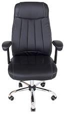 Кресло Фабио Хром М-2 Кожзам Черный, фото 3