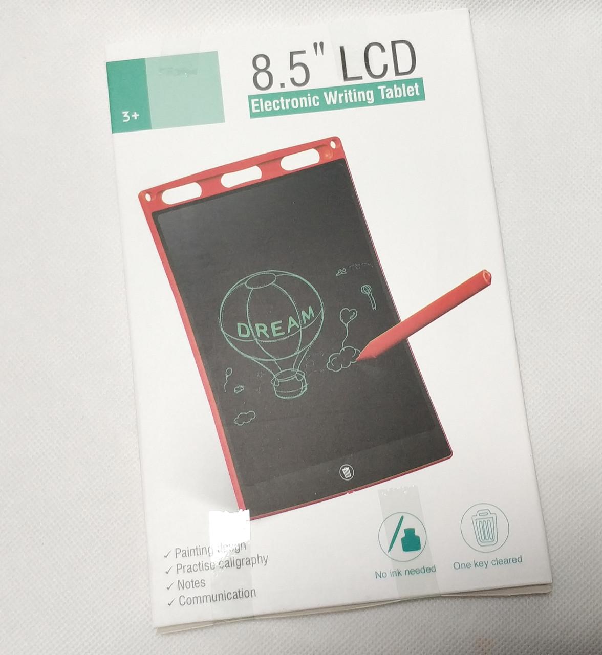 Графический планшет для рисования заметок LCD 8.5 красный 85126