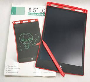 Графический планшет для рисования заметок LCD 8.5 красный 85126, фото 2