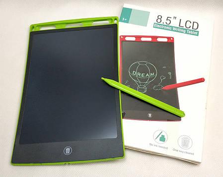 Графический планшет для рисования заметок LCD 8.5 салатовый 85126, фото 2