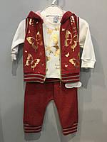 Костюм для новорожденных тройка, фото 1
