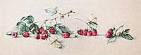 """Набор для вышивания крестом """"Малина с бабочкой"""""""