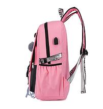 Школьный рюкзак HiFlash для девочек розовый, фото 3