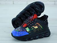 Женские кроссовки Versace Black черные, фото 1