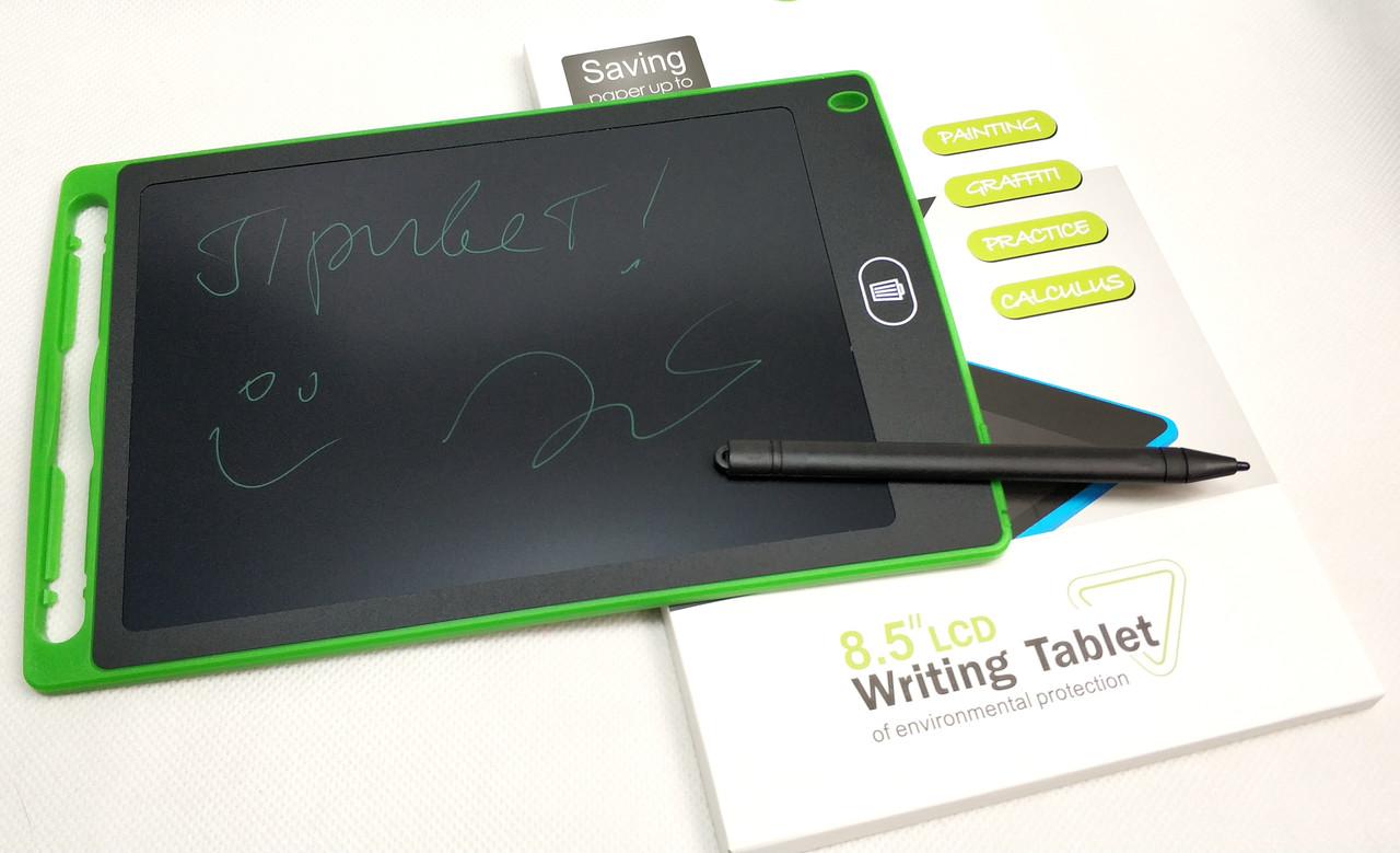 Графический планшет для рисования заметок LCD 8.5 1085A салатовый