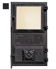 Дверцята для печі зі склом і регулюванням подачі повітря 102913