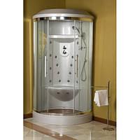 Гідромасажна душова кабіна RIVER ROUND, 100x100x200 см, напівкругла