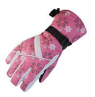 Перчатки горнолыжные женские Moon (перчатки лыжные): ярко-розовый цвет