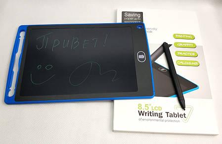 Графический планшет для рисования заметок LCD 8.5 1085A синий, фото 2