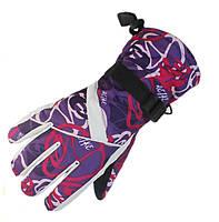 Перчатки горнолыжные женские Moon (перчатки лыжные): фиолетовый цвет