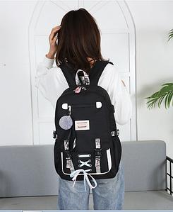 Шкільний рюкзак HiFlash для дівчаток Чорний