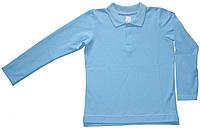 Рубашка-поло голубая для мальчика, рост 128 см,  Ля-ля