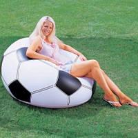 Надувное кресло Футбольный мяч 68557 Intex (110х108х66см)