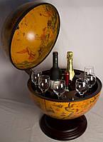 Глобус бар настольный (диаметр сферы 330 мм) коричневый