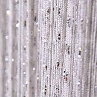 Однотонные шторы нити дождь белые