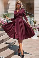 Женское платье с поясом в комплекте (42-48)