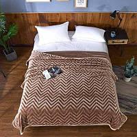 "Покрывало-плед бамбуковый ""Зиг-заг"" двуспальный размер, 180х200см, цвета разные, фото 1"