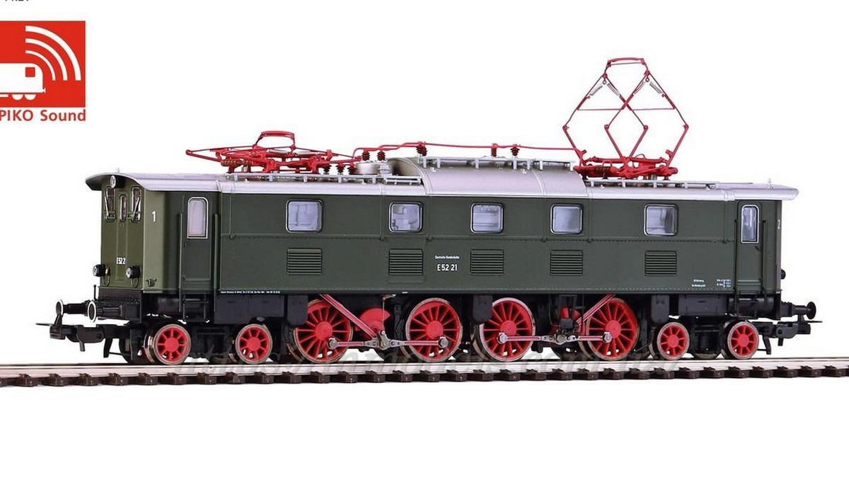 Piko 51822 Запасные части для локомотивов ходовая от электровоза E52 Electric DB III Sound /1:87